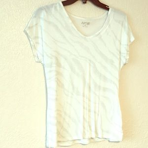 White t-shirt style blouse